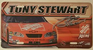 TONY STEWART - NEW - #20 Monte Carlo  - THE HOME DEPOT Racing - License Plate