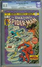 AMAZING SPIDER-MAN #143 CGC 8.5 CR/OW PAGES // 1ST APPEARANCE CYCLONE 1975