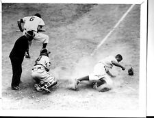 Brooklyn Dodgers Jackie Robinson Stealing Home Photo From PBS Documentary