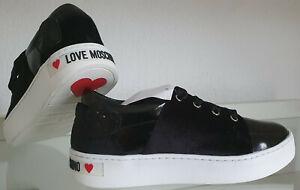 Damen Love Moschino Schuhe Gr 38 Schwarz NEU