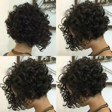 100% Brazilian Virgin Lace Front Wig Human Hair Short Bob Curly Full Lace Wigs