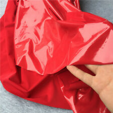 Shiny Glossy PVC Leather Fabric Soft Stretch Mirror Vinyl PU Costume Dressmaking