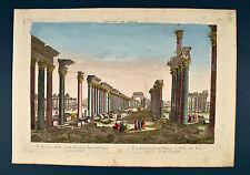 Palmira Sonnentempel Palmyra Palmire 1770 Guckkastenblatt Optical View