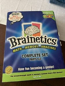 Brainetics Math Memory System Complete 5 DVD Set Flash Cards PARTS 1&2