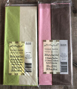 2 Packs Mixed Colors Tissue Paper - 8 Sheets Each - 57.6 sq ft