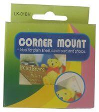 Photo Corner Clear Mounts Wedding Albums Cardmaking Scrapbooking Finish 250 Pc