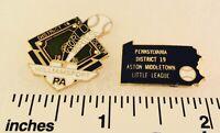 2 Little League Baseball PINs - PA D19 1986 D16 LL World Series