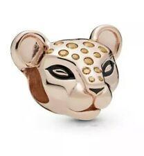 🇬🇧💜💜925 STERLING SILVER 14ct ROSE GOLD pl LION PRINCESS LIONESS CHARM &POUCH
