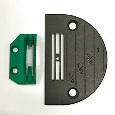 Teflon Coated Non-Stick Needle Plate & Feed Dog Set For Sewing Machine