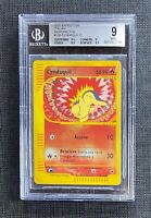 Pokemon BGS 9 (I T A L I A N) Cyndaquil Reverse Foil Expedition #105/165 Italian