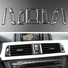 7x Carbon Fiber Interior Air Vent Outlet Cover Trim For BMW 3 series F30 2013-15