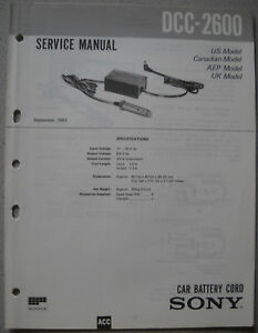 SONY DCC-2600 Service Manual