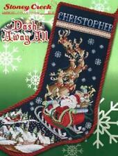 Dash Away All LFT481 by Stoney Creek cross stitch stocking pattern