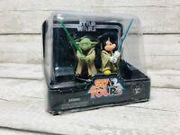 Hasbro Disney Star Wars Star Tours Jedi Mickey & Yoda Action Figures Set Rare
