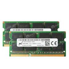 Micron 32GB 2X16GB PC3L-12800S 1600MHz 1.35V 204PIN NON-ECC SODIMM Laptop Memory