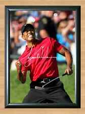 Tiger Woods 2008 US Open Masters Ryder Cup Signed Autographed A4 Poster Photo
