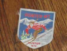 hunter mountain patch,hunter, new york,iron on new old stock 80's,set of 2