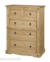 Mercers Furniture® Corona Mexican Pine 3+2 Chest of Drawers