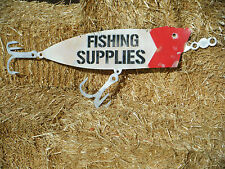 Fishing Supplies Metal Sign
