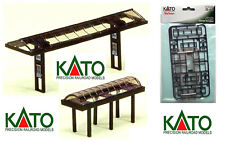 KATO 23-216 SET # 4 canopies for STATION RAILWAY STOP BUS-TAXI LADDER-n