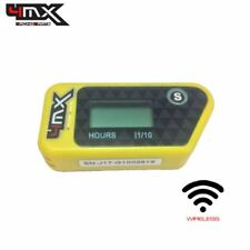 4MX Yellow Wireless Kart Engine Vibration Hour Meter to fit BRM Kart