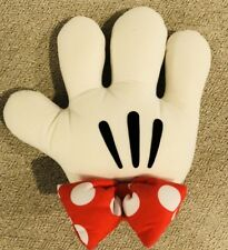 Walt Disney World MINNIE MOUSE Embroidered Stuffed Hand Glove Red White 12""