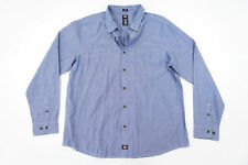 DICKIES OXFORD LIGHT BLUE XL SLIM FIT BUTTON FRONT SHIRT MENS NWT NEW