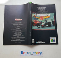 Nintendo 64 N64 F1 World Grand Prix II Notice / Instruction Manual