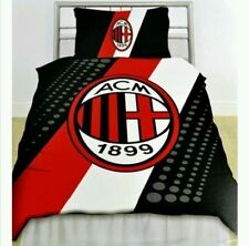 AC Milan FC Stripe Crest Single Duvet Set