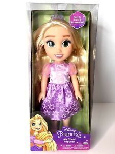 DISNEY PRINCESS BEAUTIFUL Purple RAPUNZEL DOLL & Awesome TIARA 14 inches Tall