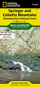 National Geographic Trails Illustrated GA Springer Cohutta Mountains Map 777
