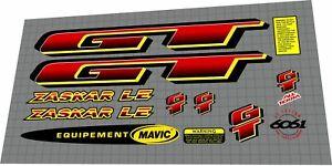1997 GT ZASKAR LE DECAL SET