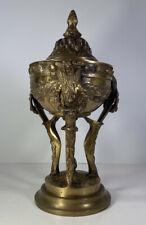 French Empire Style Bronze Cassolette Centerpiece Tripod Bowl 12.5� X 6.75�