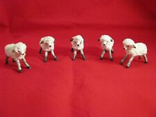 🔵 Vintage Irish Dresden Lace Sheep/Lamb ~ Porcelain Figurines~Lot of 5~Rare