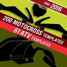 Motocross , Dirt, ATV vector Templates CD (1989 - 2016)( 1:1) (instant delivery)