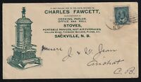 Canada 1901 Fawcett Stoves KEVII Advertising Cover Sackville to Arichat
