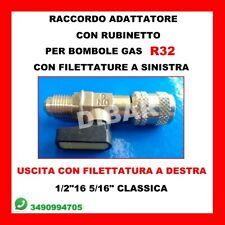 RACCORDO ADATTATORE CON RUBINETTO PER BOMBOLE DI GAS R32 1