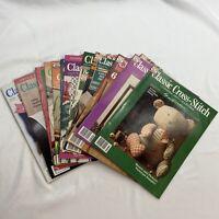 Lot of 15 Classic Cross Stitch Needle Arts Herrschners 1990 - 1992 CS Charts