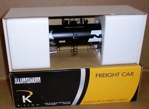 "* K-Line Trains _ Aluminum ""Burlington Northern Semi Scale Tank Car"" NIB K-90014"