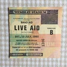 Queen Bowie U2 Live Aid ticket Wembley Stadium 13/07/85 #1386