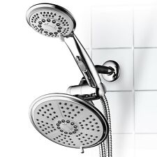 HotelSpa High-Pressure 7 Inch Rainfall Shower Head / Hand Shower Combo, Chrome