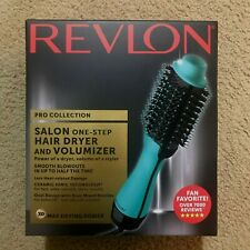 Revlon One-Step Hair Dryer And Volumizer PRO Collection TEAL Free Shipping!