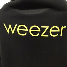 Weezer Snuggie Black with Yellow Logo Spellout Real Snuggie Nwot
