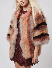 Topshop Marabou Feather Coat EU 38 $305