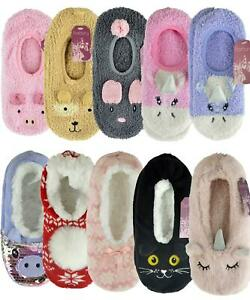 Ballerina Soft Fleece/Knitted Bed Slippers with Grip Sherpa Lined/Unlined