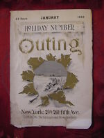Rare OUTING vintage antique magazine January 1899 Sports Outdoors