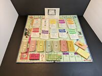 Vintage 1936 Monopoly Game Cards Pieces & Board - Parker Brothers  Without Box.