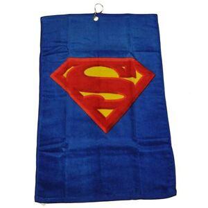 DC Comics Superman Man of Steel Golf Towel Terry Cloth Hero Cartoon Gift Blue