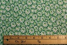 Fabric by Yard Crazy Daisy Green w/ yellow Quilting & Sewing Cotton