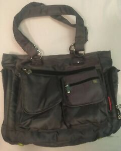 NWOT Fisher Price Deluxe Organizer Baby Diaper Bag Front Pocket Gray Tote